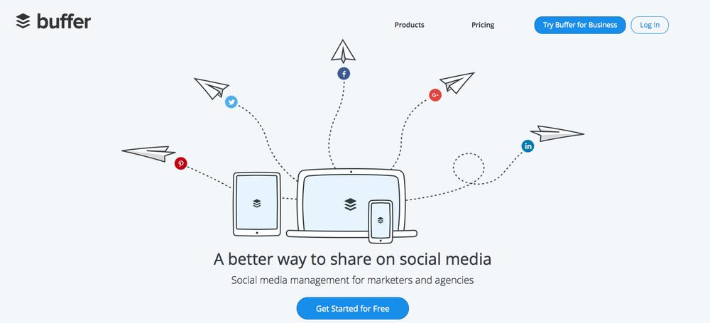 buffer social media small business