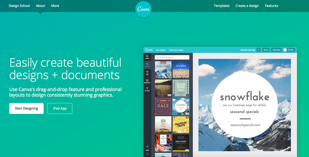 canva design tool small business