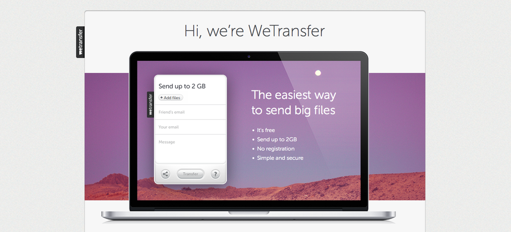 wetransfer small business