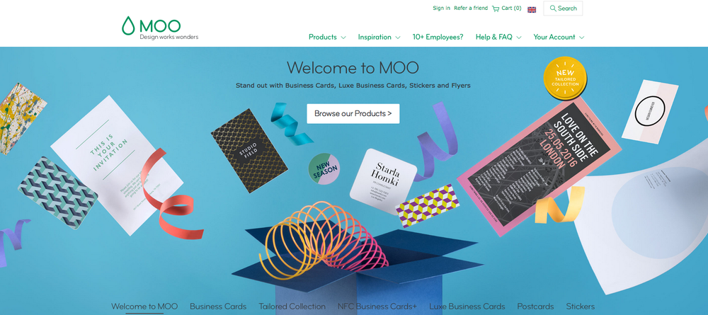 moo online printing small business