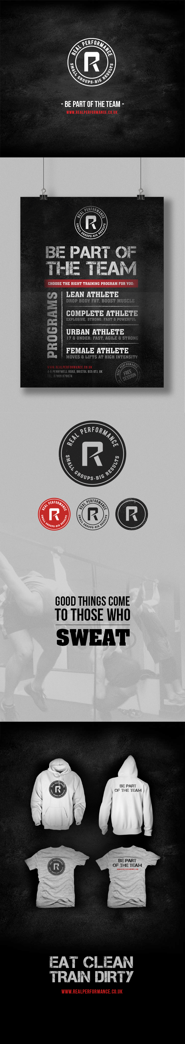 real performance_gym_bristol_branding
