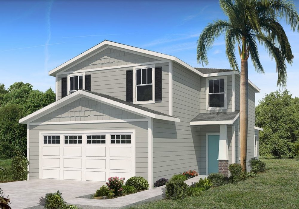 1459 SQ.FT.2 STORYGABLE ROOF -