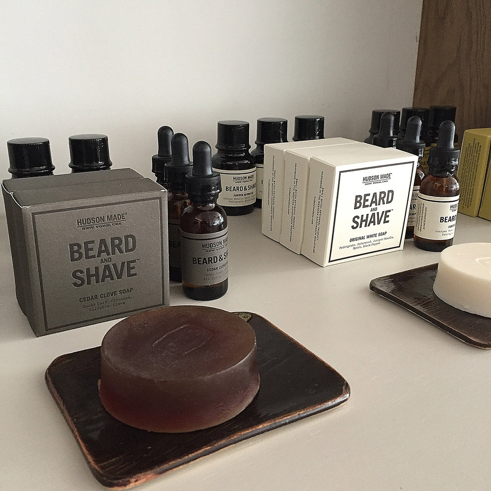 Small batch soaps and grooming products, by Hudson Made at hudsonmadeny.com
