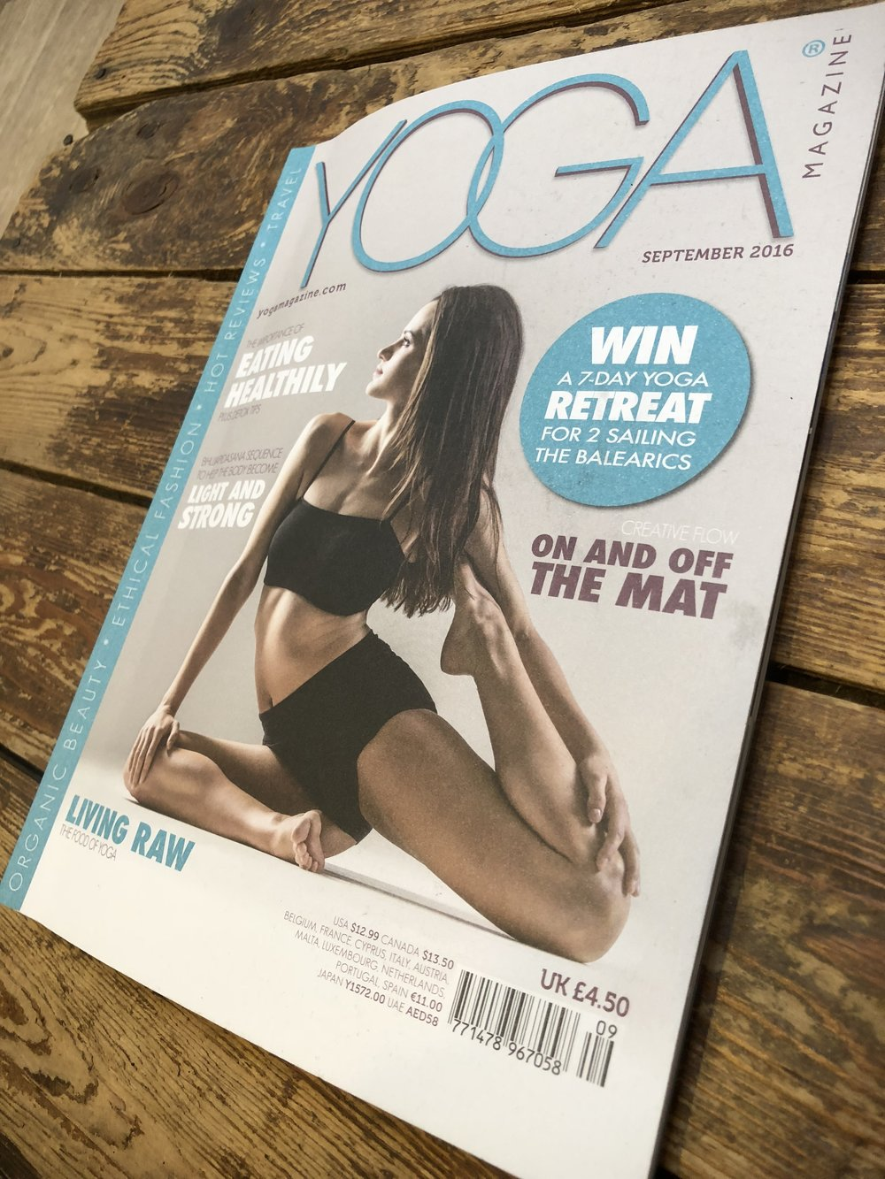 Yoga Magazine  - September 2016