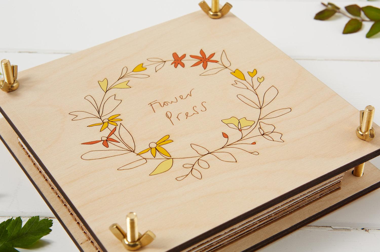Wooden Flower Press Anna Wiscombe