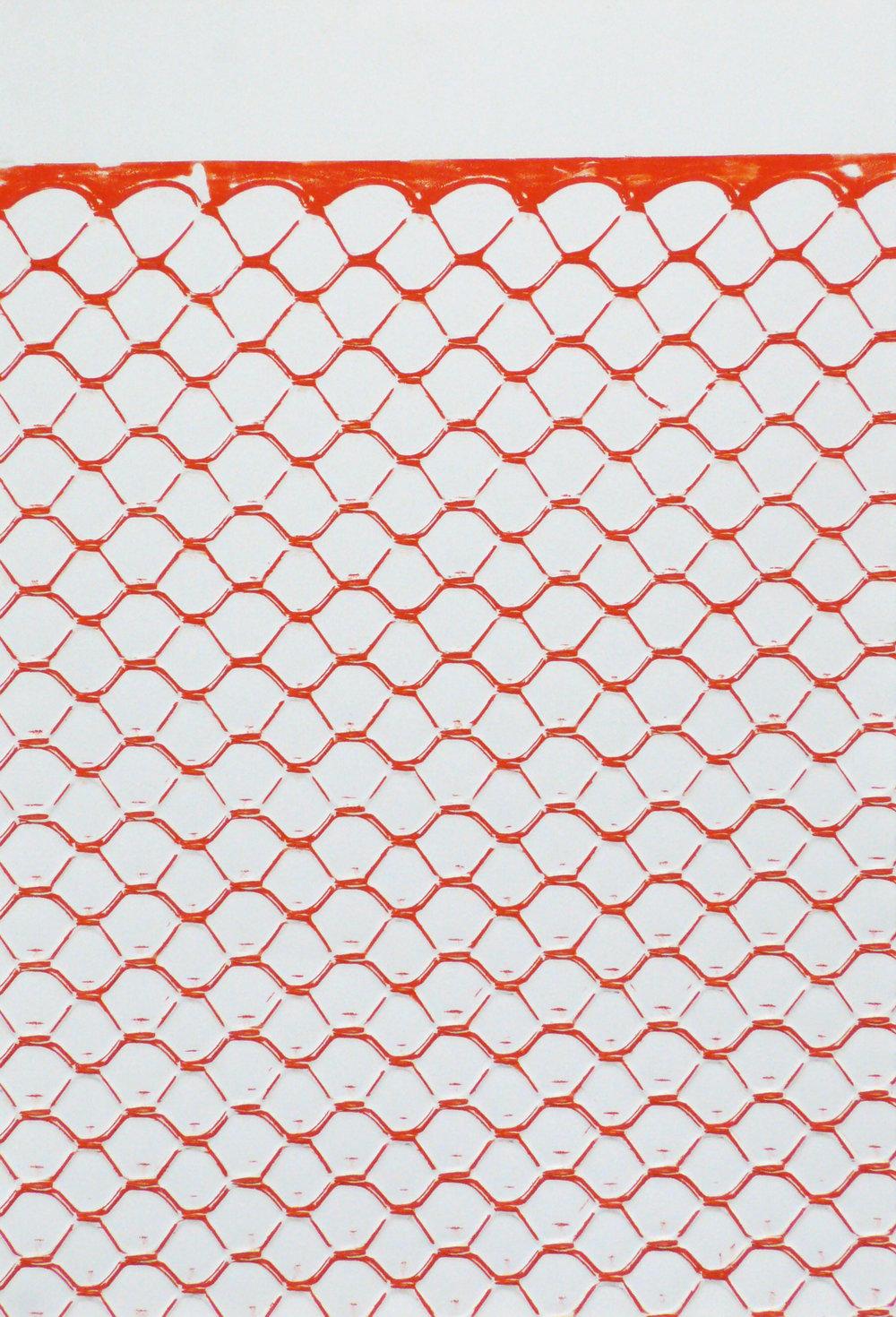 "Fence #1   Monoprint 0"" x 20"""