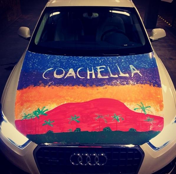 Car marker on... car lol.