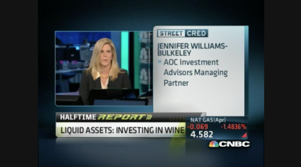 Watch Jennifer talk wine on CNBC