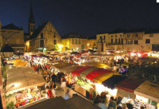 French market at night