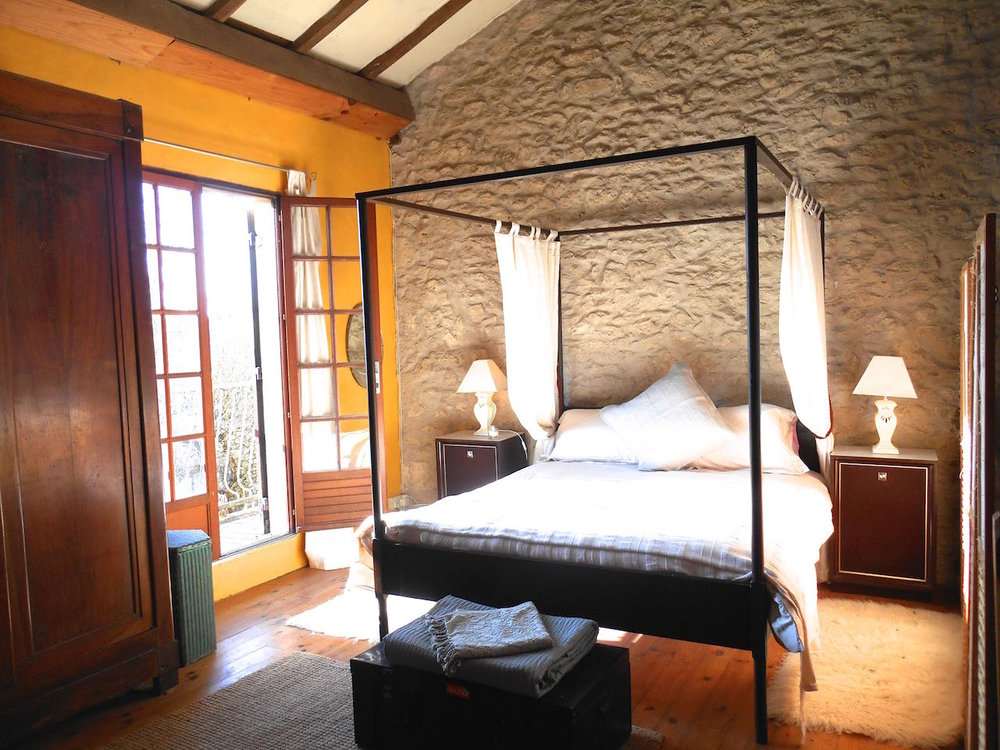 French country house master bedroom