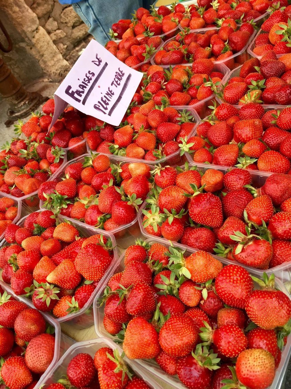 Fresh food at French markets