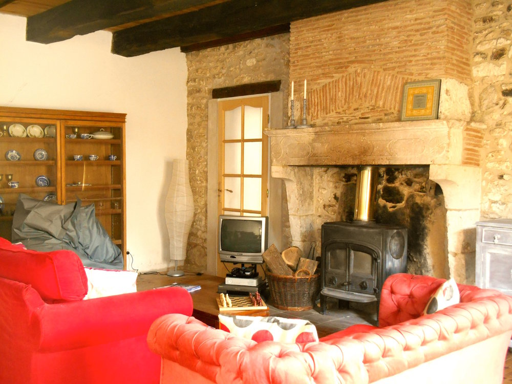 Wood burner French holiday home