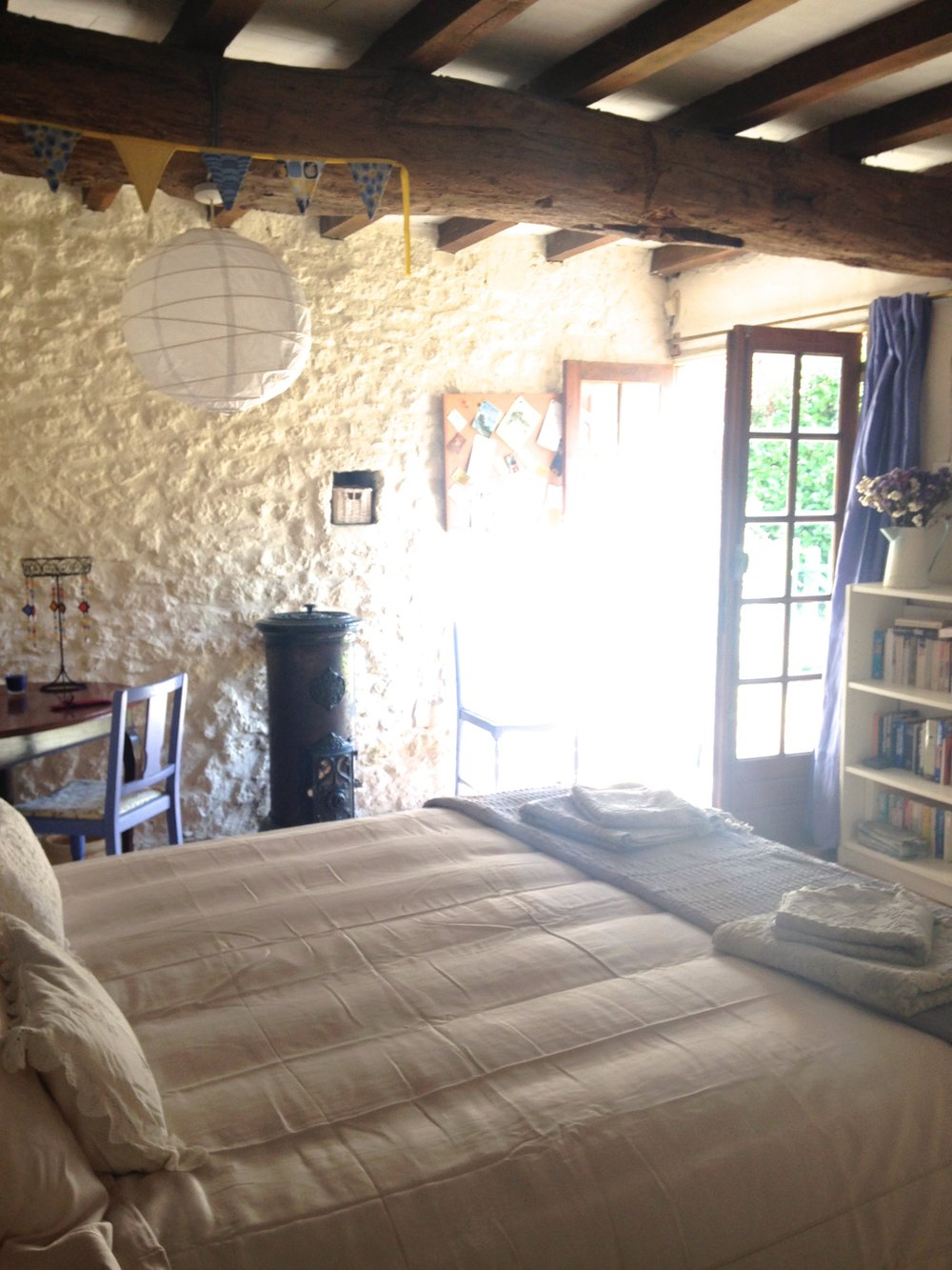 Sunlight French holiday bedroom