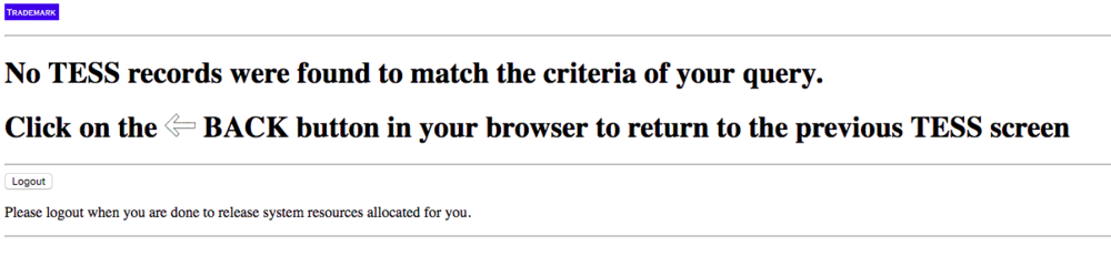 This is the best message you can get from the USPTO site!
