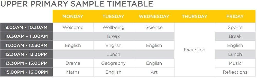 Upper Primary Timetble.JPG