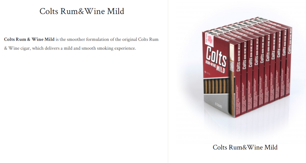 Colts Rum&wine mild $8.41+ (package of 8)