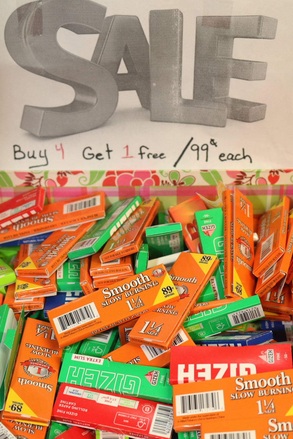 Paper From 99 cents; buy 4 get 1 free