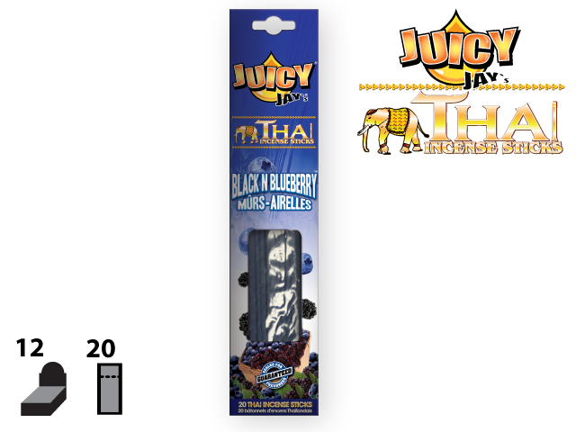 JUICY JAY'S® THAI INCENSE STICKS – BLACK N BLUEBERRY