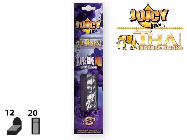 JUICY JAY'S® THAI INCENSE STICKS – GRAPES GONE WILD