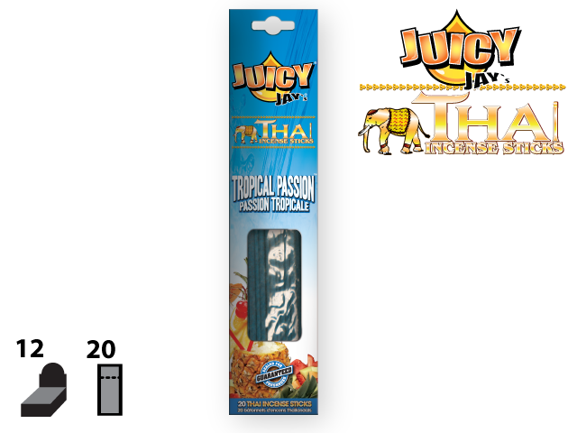 JUICY JAY'S® THAI INCENSE STICKS – TROPICAL PASSION