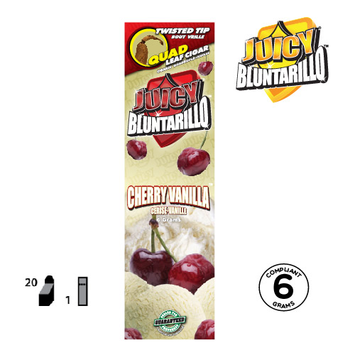 JUICY® BLUNTARILLO QUAD LEAF CIGARS CHERRY VANILLA™