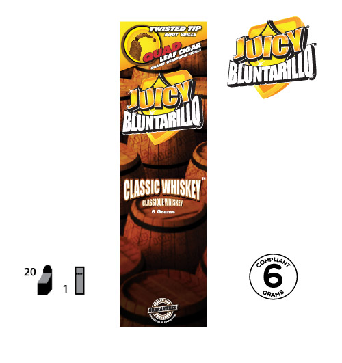 JUICY® BLUNTARILLO QUAD LEAF CIGARS CLASSIC WHISKEY™