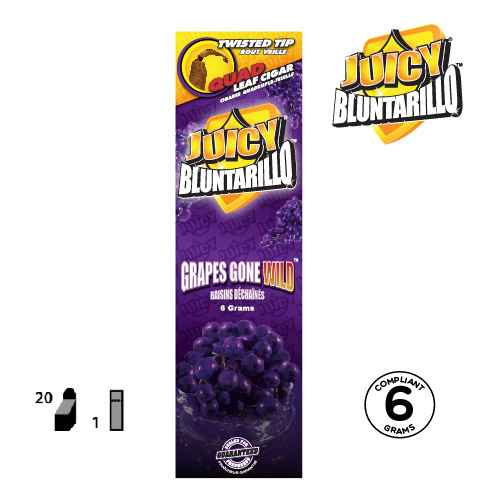 JUICY® BLUNTARILLO QUAD LEAF CIGARS GRAPES GONE WILD™