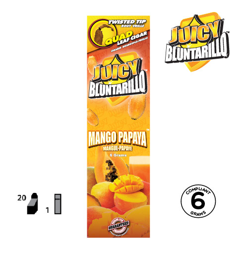 JUICY® BLUNTARILLO QUAD LEAF CIGARS MANGO PAPAYA™