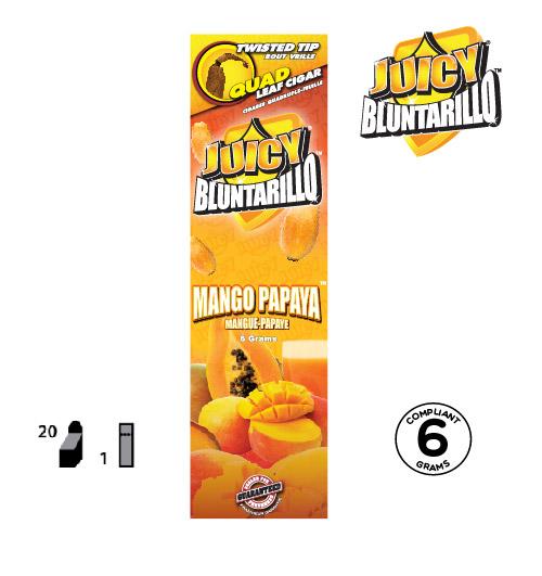 JUICY® BLUNTARILLO QUAD LEAF CIGARS MANGO PAPAYA™
