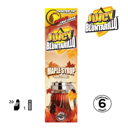 JUICY® BLUNTARILLO QUAD LEAF CIGARS MAPLE SYRUP™