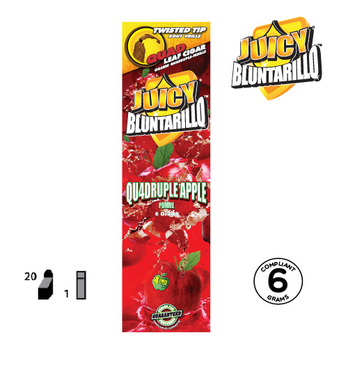 JUICY® BLUNTARILLO QUAD LEAF CIGARS QU4DRUPLE APPLE™