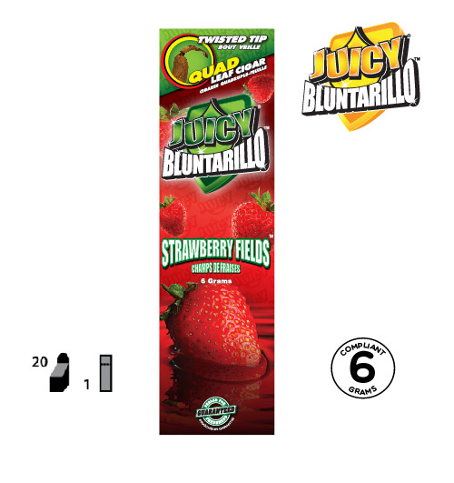 JUICY® BLUNTARILLO QUAD LEAF CIGARS STRAWBERRY FIELDS™