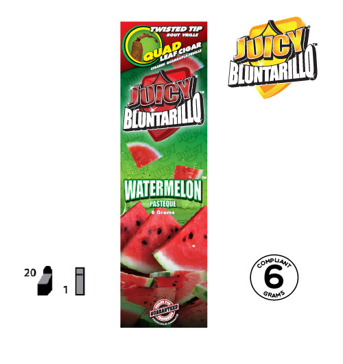 JUICY® BLUNTARILLO QUAD LEAF CIGARS WATERMELON™