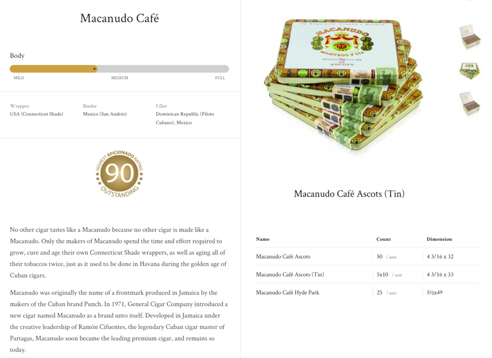 Macanudo Café Ascots;Ascots(Tin); Hyde Park