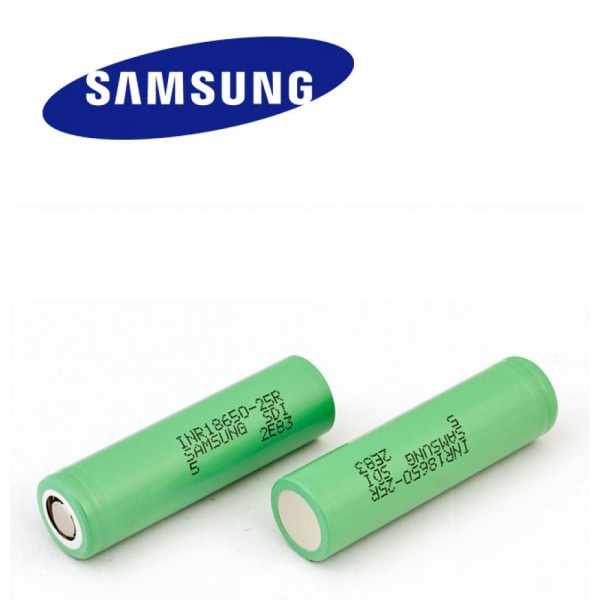 SAMSUNG INR18650-25R 2500mAh High-drain Battery - 12C, 20A
