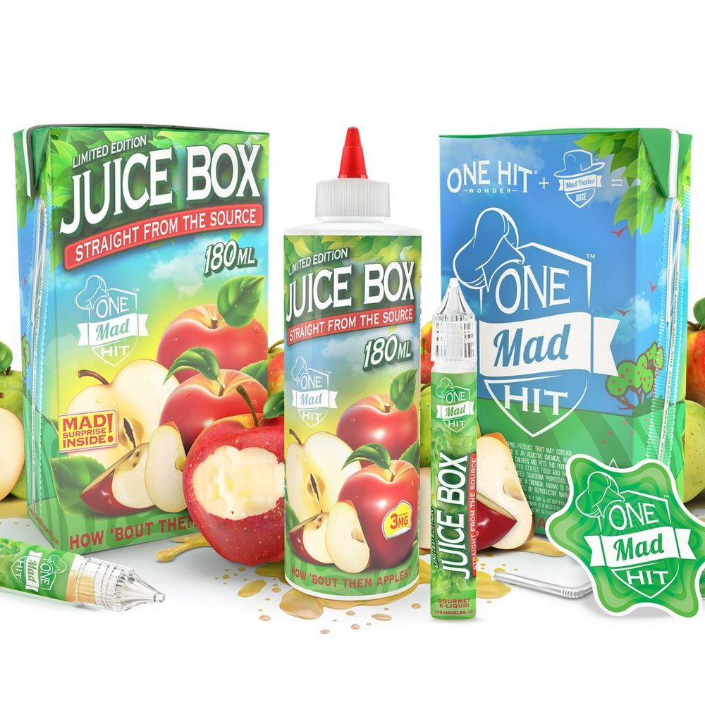 Juicy box apple 180ml from One Mad Hit & Mad Hatter