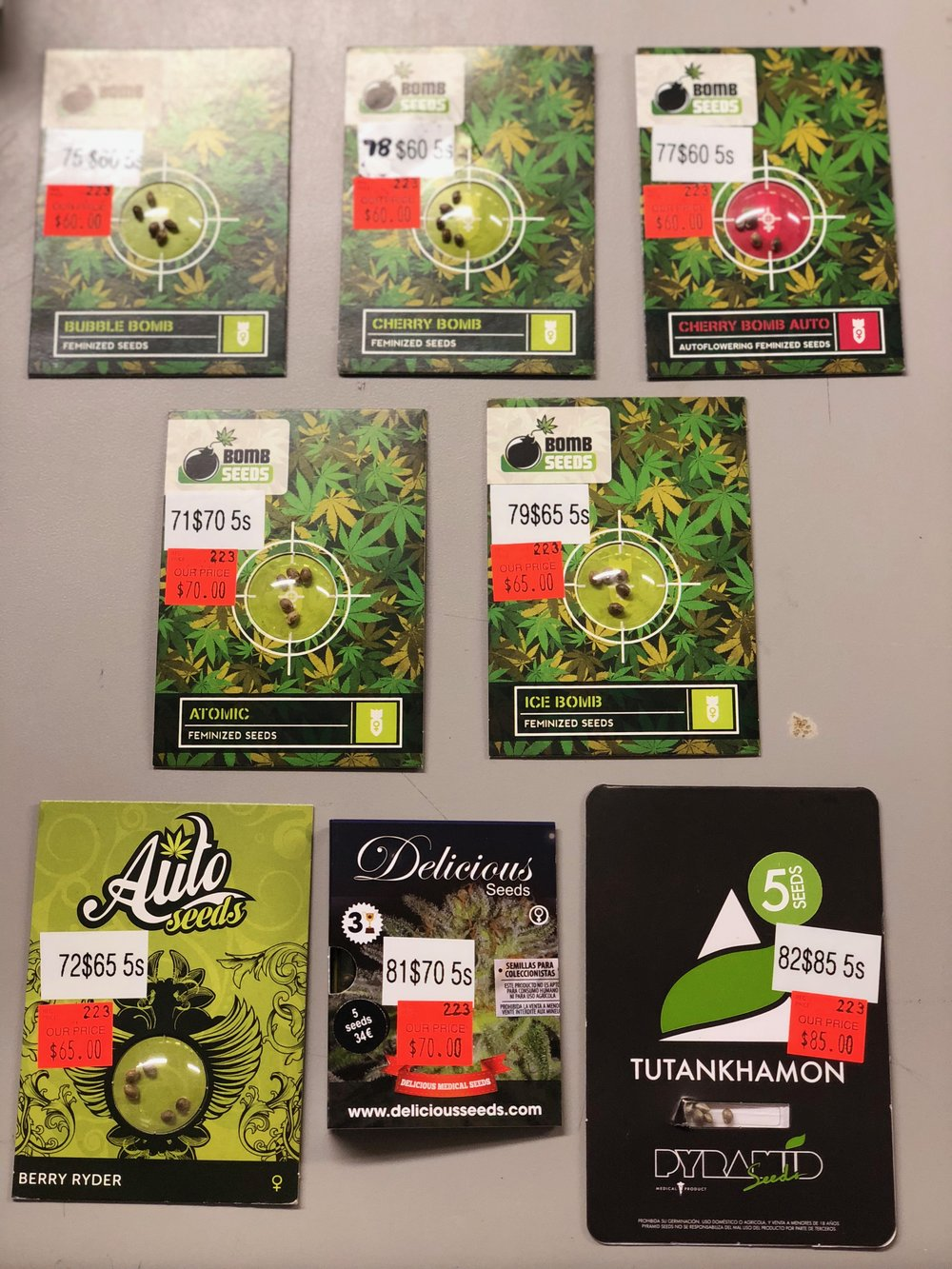 Bomb Seeds, Delicious Seeds, Pyramid Seeds, Canuk, Auto Seeds in stock