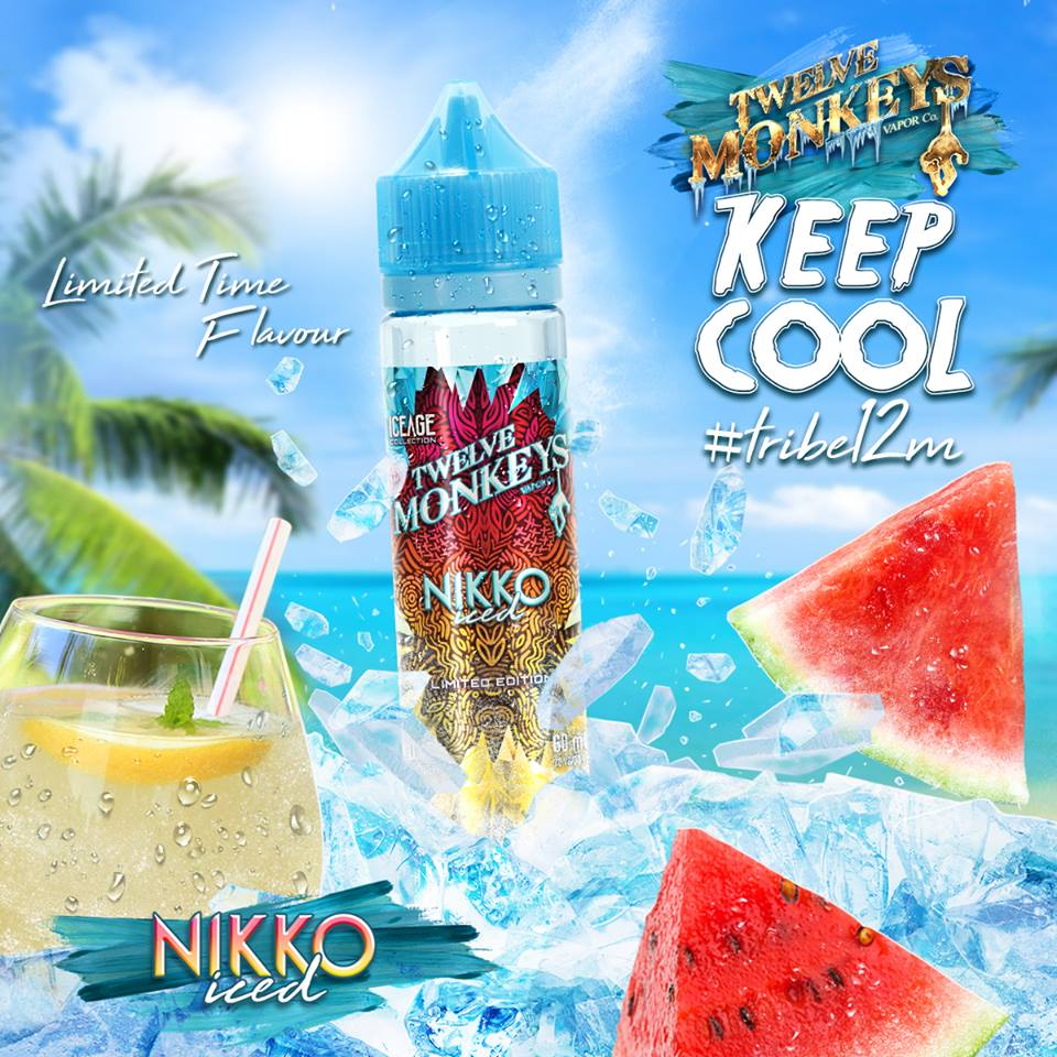 """Introducing our limited time flavour Nikko Iced!  The snow monkeys in the mountains of Nikko have brewed up their favourite blend of watermelon and lemonade with crushed ice for you!ðŸ�¹â�"""""""