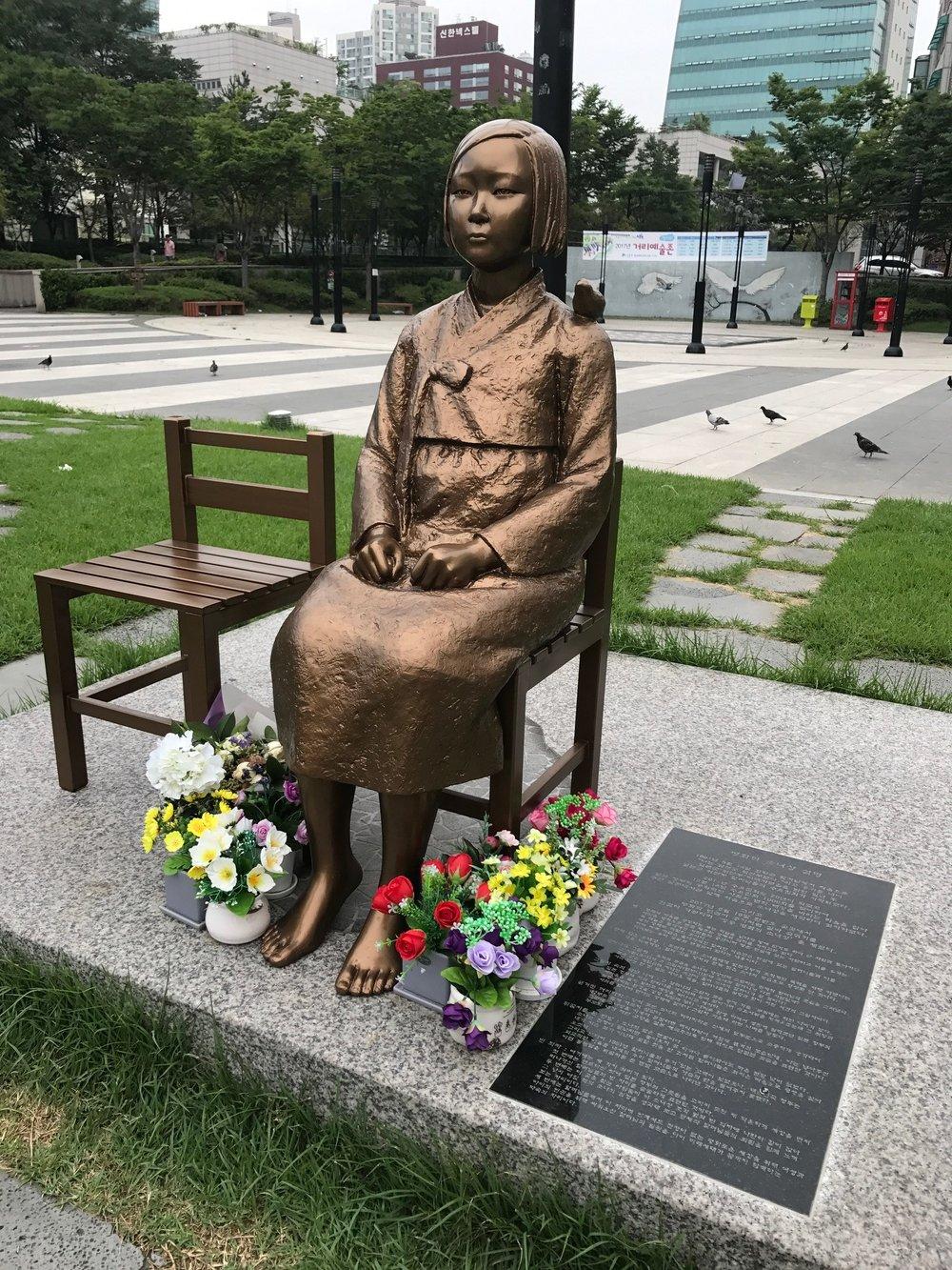 'Comfort Women' Statue - Wangsimni Staion, Seoul, South Korea