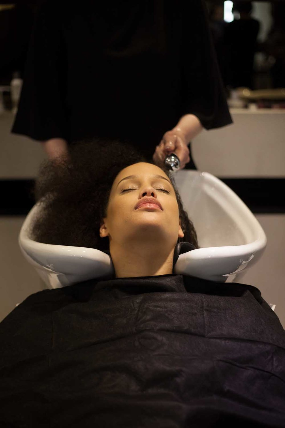 - To prep the hair and remove product build-up, the hair was cleansed with Texture Release™Scalp Rejuvenating Sulfate-Free Shampoo