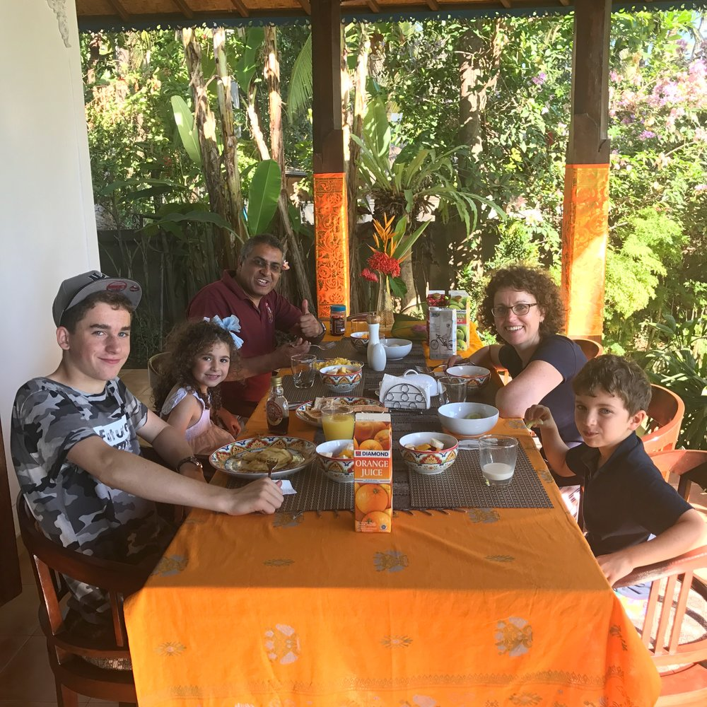 Happy Family rescued and having breakfast. -(I received permission from family to use photo)