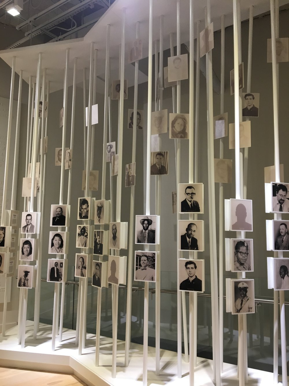 This installation commemorates people who died fighting for the Civil Rights Movement.