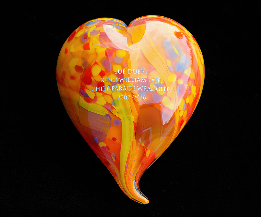 Puffy Heart with Engraving