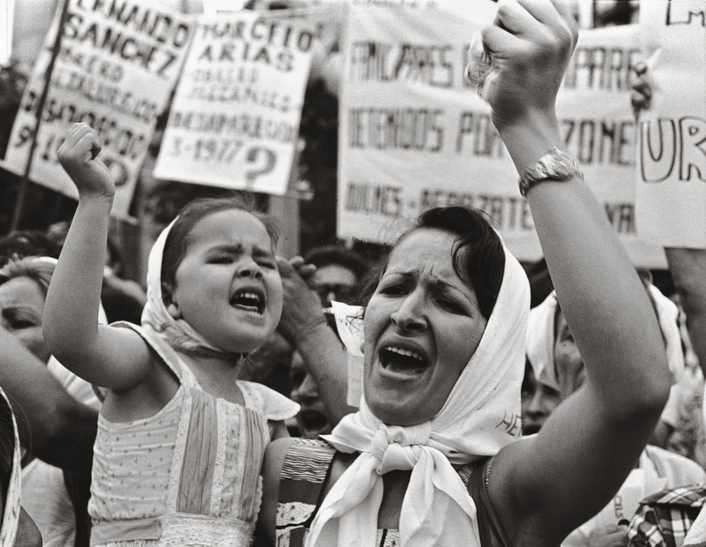 Mothers of the Plaza de Mayo protesting over the disappeared in Argentina during the dictatorship