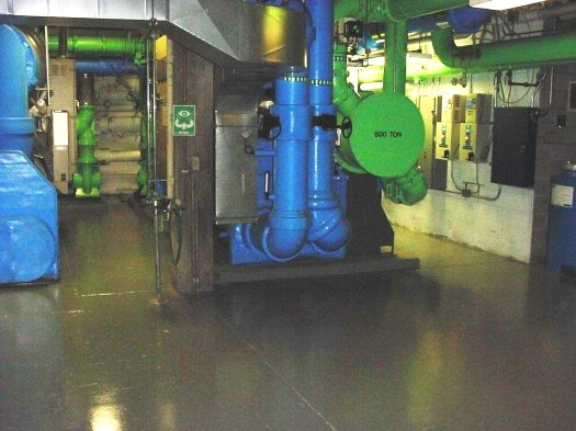 Chillers: This 800-ton Trane was completely broken down and lowered through an Air Intake Shaft