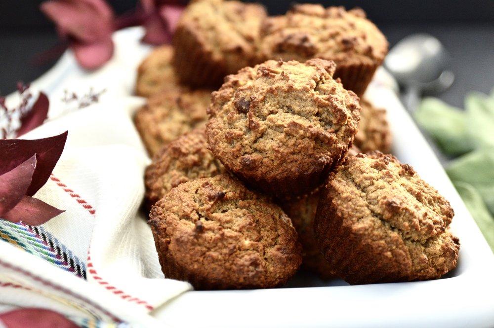 Paleo Banana Pecan Muffins