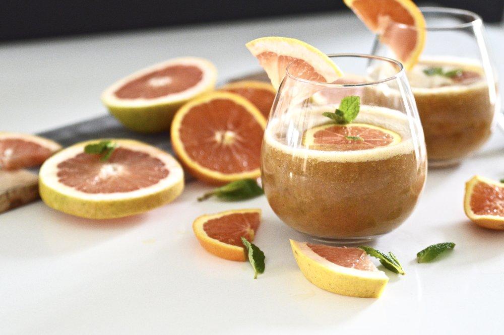 Citrus Mint Kombucha Cocktails (Whole 30, Paleo, Gluten Free, No Sugar Added)