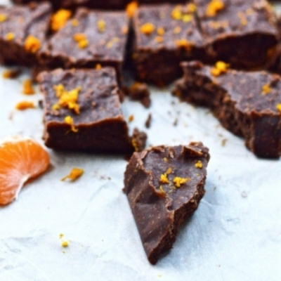 Paleo Dark Orange Chocolate Fudge