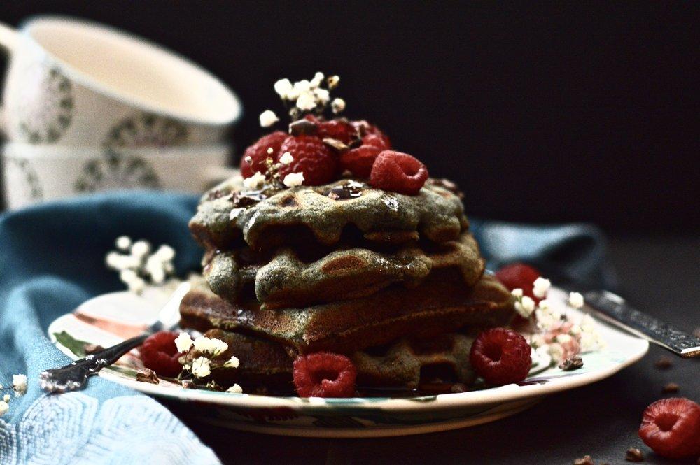 Paleo Berry Coconut Waffles (Gluten Free, Grain Free, Dairy Free)