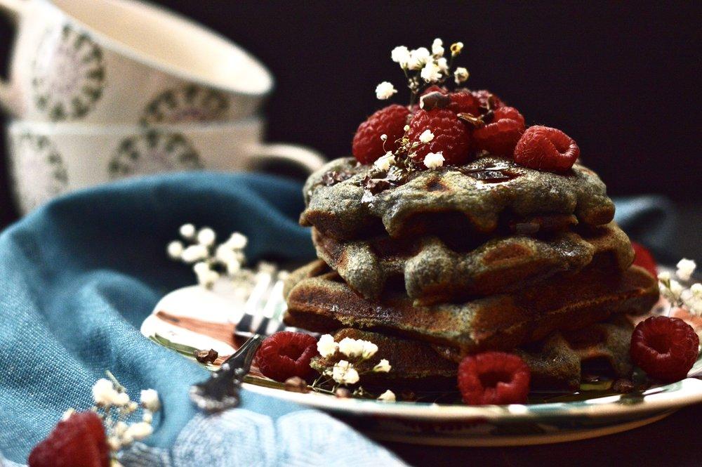 Paleo Berry Coconut Waffles (Grain Free, Gluten Free, Dairy Free)